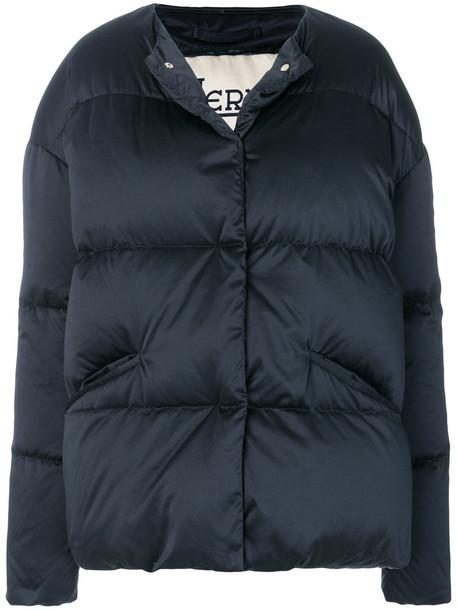 jacket puffer jacket women cotton blue