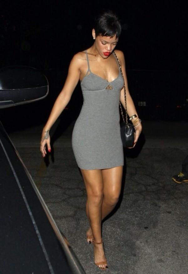 rihanna grey dress dress rihanna style