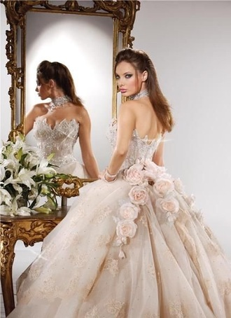 pink dress wedding dress dress floral dress quinceanera dress sweet 16 dresses style cute dress fashion sexy dress