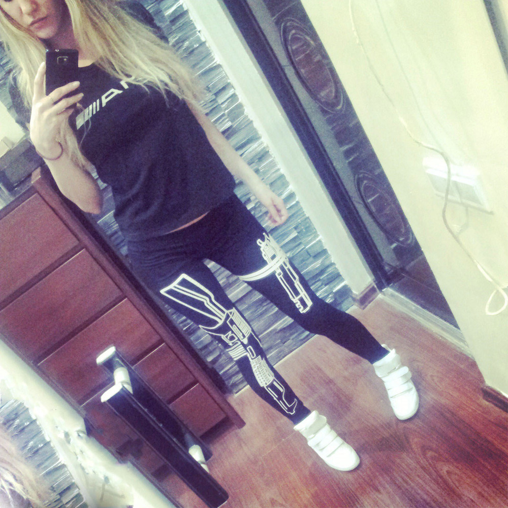 Aliexpress.com : buy rita's shop 2014 women new work out gun letter printing leggings black sexy leggings women cotton slim leggings from reliable leggings and leg warmers suppliers on happy moments store