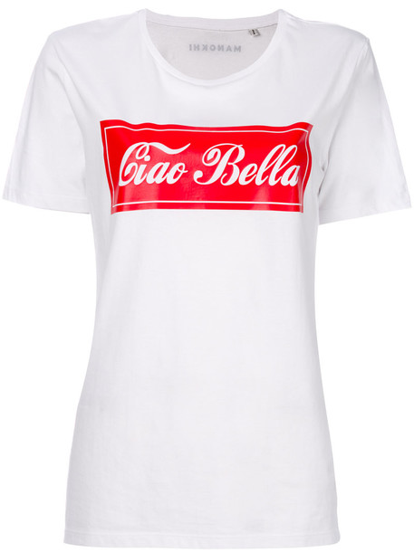 Manokhi - Ciao Bella T-shirt - women - Organic Cotton - M, White, Organic Cotton