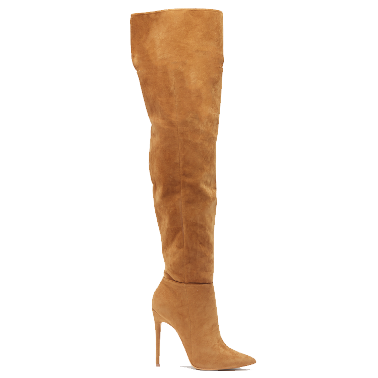 Thigh High Tan Boots - Cr Boot