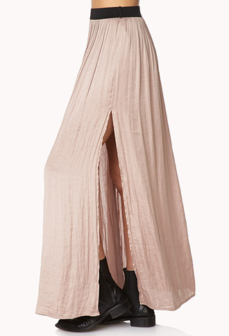 Enchanted M-Slit Maxi Skirt | FOREVER21 - 2000090946