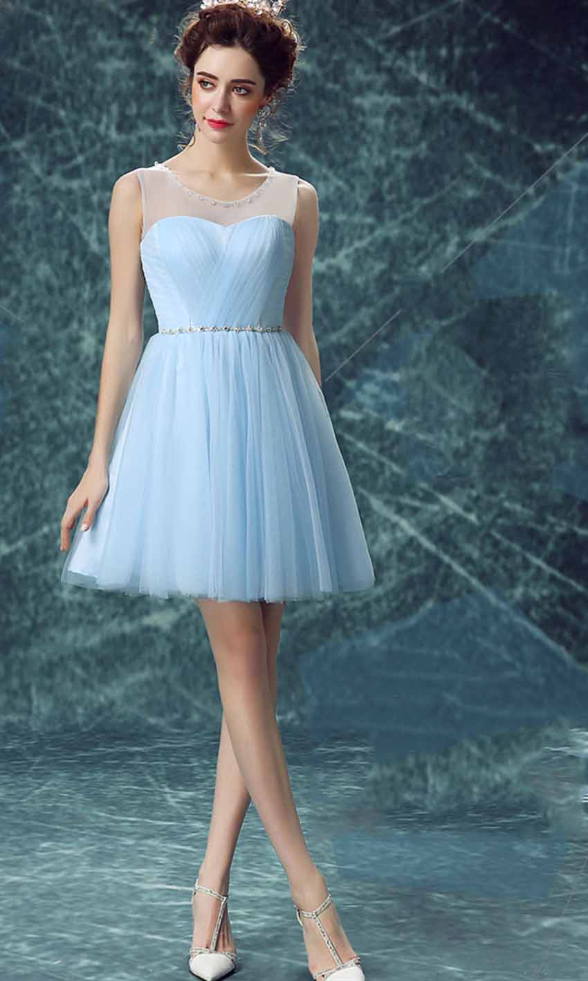 Cute Blue Illusion Prom Dress Short Keyhole Back KSP463 [KSP463] - £88.05 : Cheap Prom Dress UK, Wedding Bridesmaid Dresses, Prom 2016 Dresses, Kissprom.co.uk offers fashion trends prom dresses uk, bridesmaid dresses uk, amazing graduation dresses, ball gown and any other formal, semi formal dresses with free shipping and free custom service at affordable price.