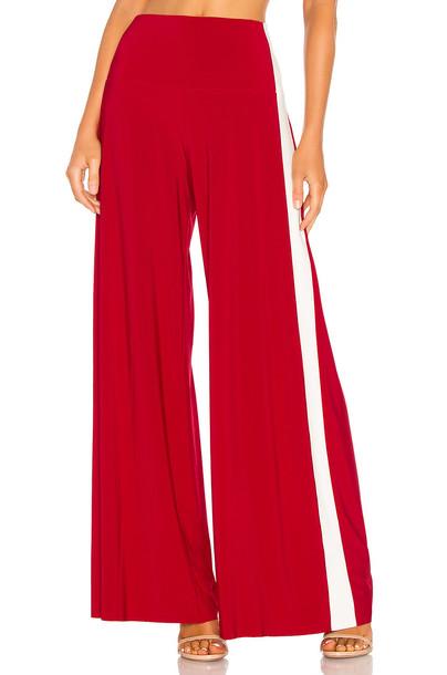 Norma Kamali x REVOLVE Side Stripe Elephant Pant in red