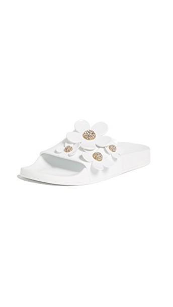 Marc Jacobs daisy aqua white shoes