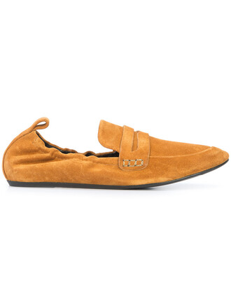 women soft classic loafers leather suede brown shoes