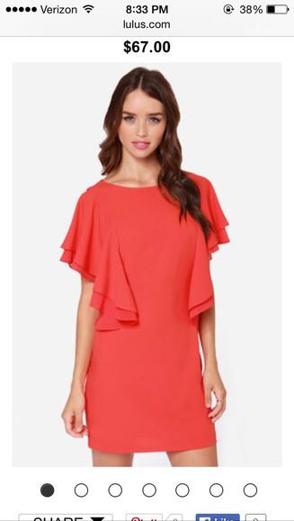 color coral dress