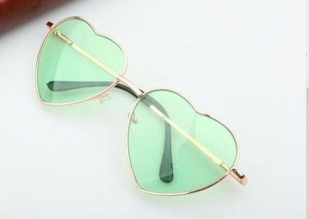 sunglasses green mint