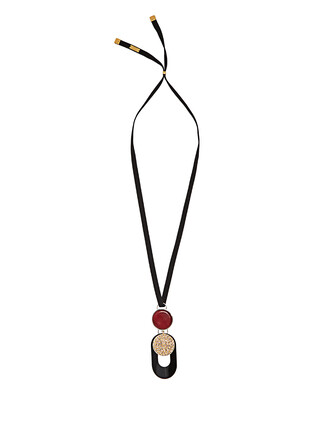 necklace pendant black jewels