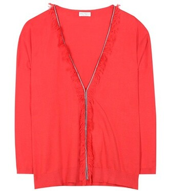 cardigan cotton red sweater