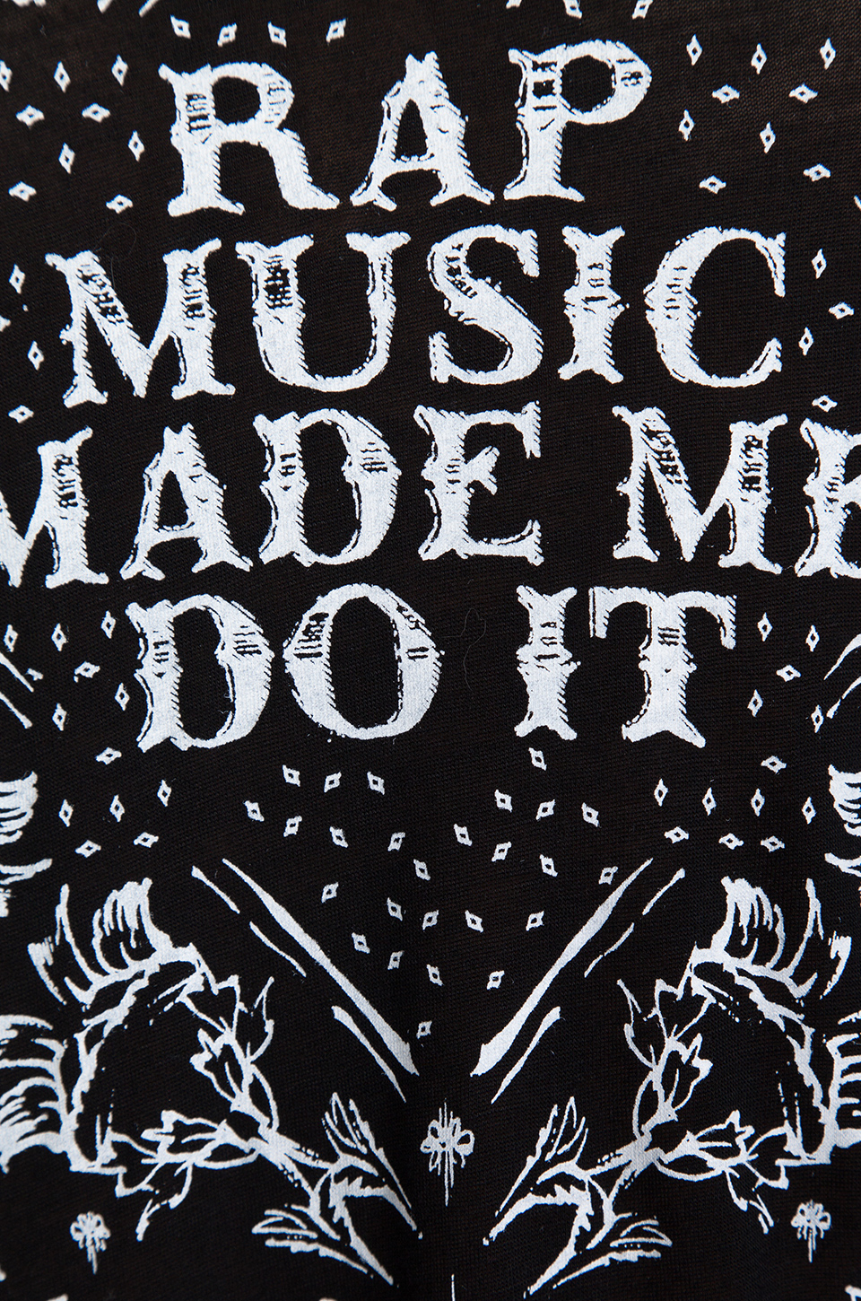 Style Stalker Rap Music Made Me Do It Tee in Black | REVOLVE
