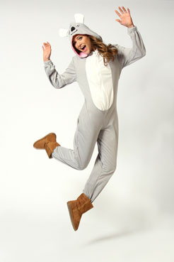 Sheila Koala Bear Hooded Animal Onesie at boohoo.com