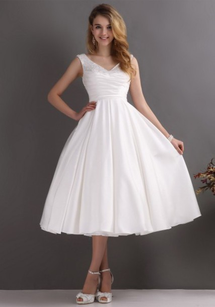 Dress cheap wedding dresses simple wedding dresses for Shoes for tea length wedding dress