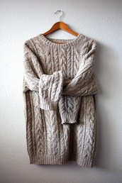 sweater,wool,fall sweater,fall outfits,knitted sweater,knitwear,light shade,tumblr sweater,tan sweater,oversized sweater