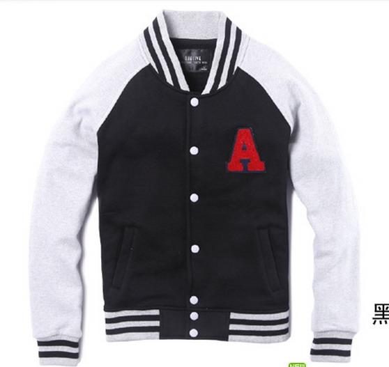 Black Grey A Letterman Jacket for Lovers Sale [Letterman Jacket for Lovers] - $78.00 : Varsity Jackets Sale, Mens Baseball Jackets Outlet