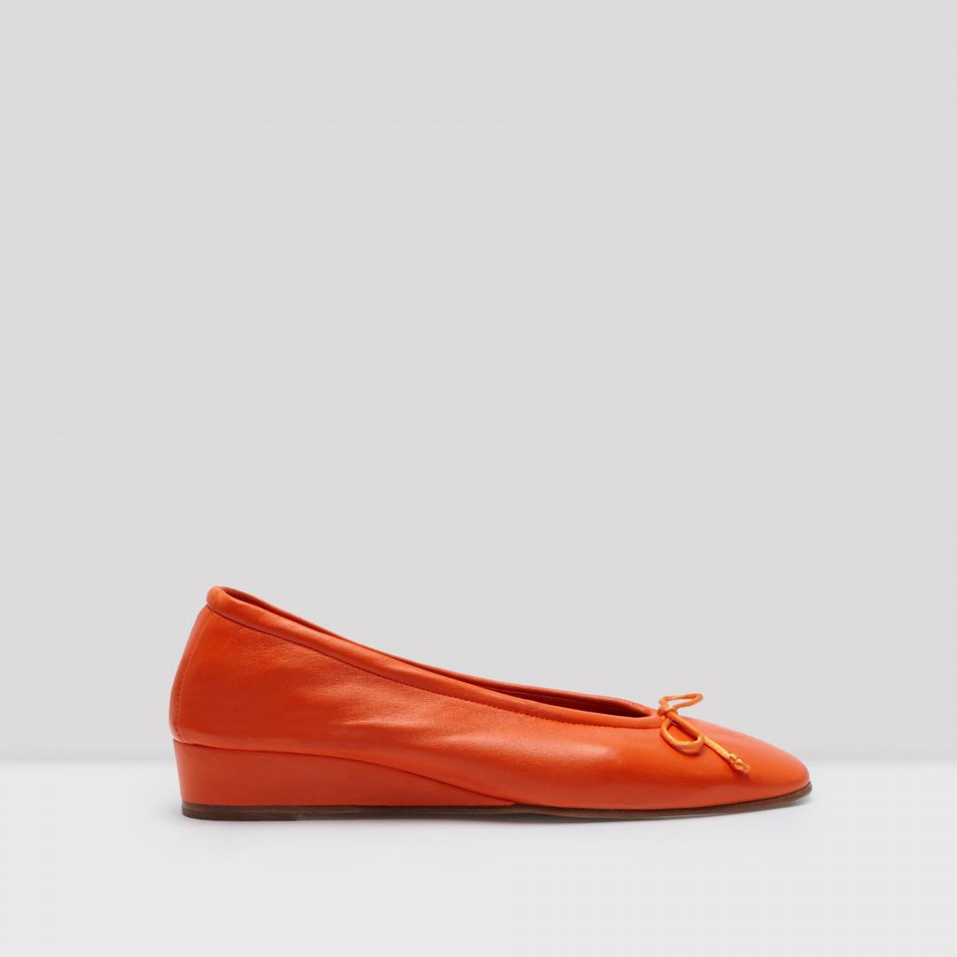 Cesca Acid Red Nappa Leather Flats