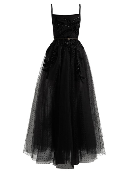 Elie Saab gown embellished black dress