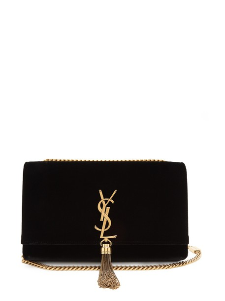 Saint Laurent bag shoulder bag velvet black