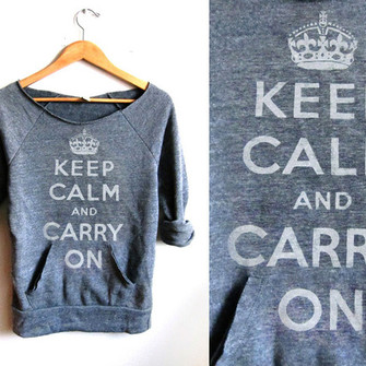 shirt keep calm middle sleeve comfy the middle