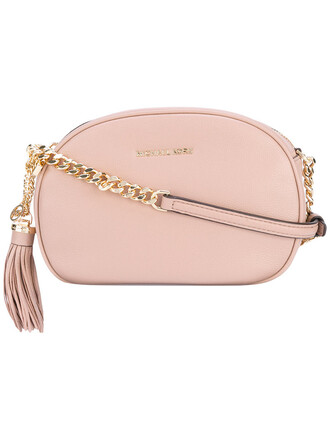tassel women bag crossbody bag leather purple pink