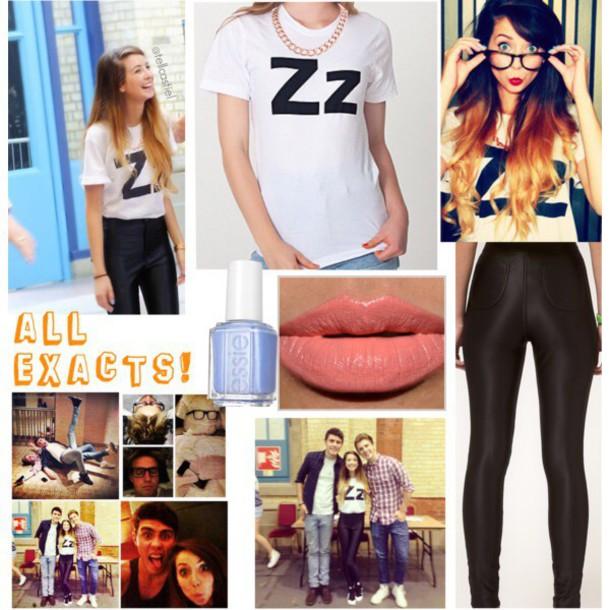 zoella white t-shirt pants