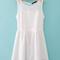 Round neck plain polyester blending princess dress : kisschic.com
