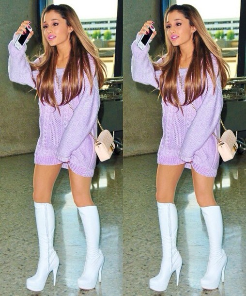 purple dress with boots
