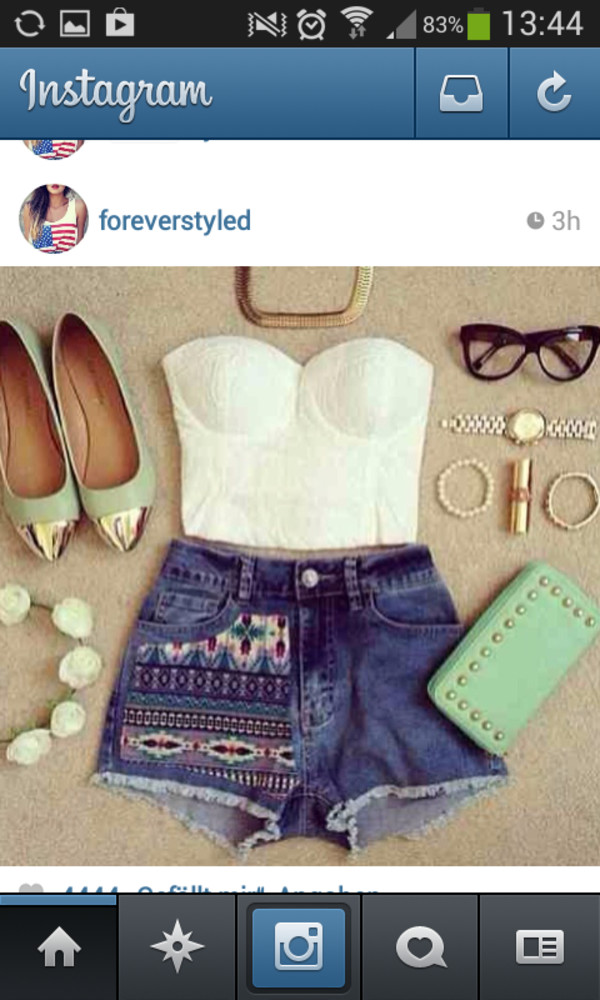 t-shirt shorts bag shoes