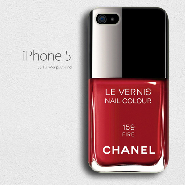 vernis Nail Polish chanel 159 red fire iPhone 4/4 Case, iPhone 5/5s ...