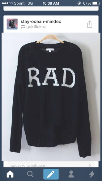 sweater rad radical black oversized sweater