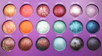 jewels eye shadow orange shades make-up eye makeup light blue science sun weheartit venus pink brown purple light purple makeup palette