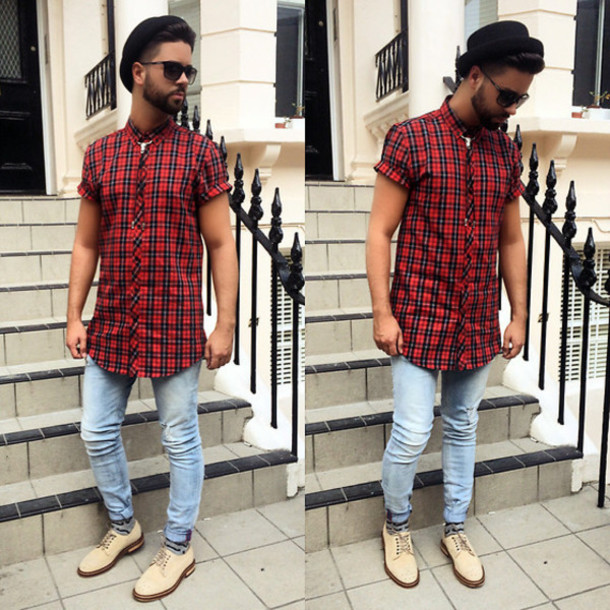 shoes checkered beige smart casual classy dope menswear hipster menswear shirt