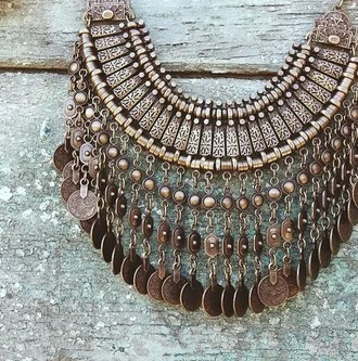 jewels coin necklace coin boho
