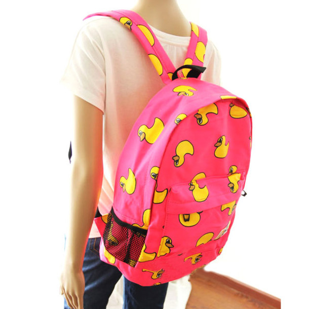 bag backpack cool fashion yellow duck