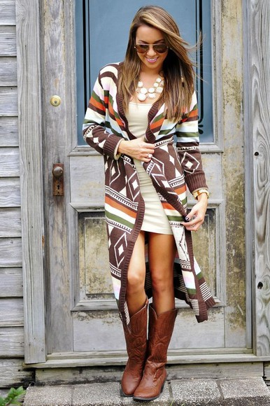 jacket aztec cardigan colorful patterns