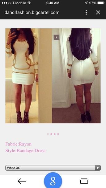 dress rayon bandage dres white dress