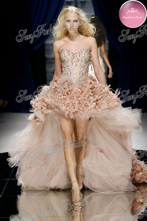 Hot Selling Sweetheart Beaded Front Short And Long Back High Low Hem Wedding Pary Dresses Gowns-in Wedding Dresses from Apparel & Accessories on Aliexpress.com