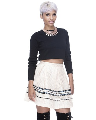 skirt flare skirt pleated skirt beige skirt beige