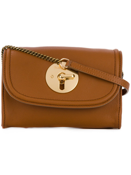 See by Chloe metal women bag crossbody bag leather cotton brown
