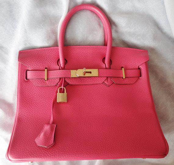 Sale rare gorgeous estate 30cm hot pink birkin by uniquenstyle
