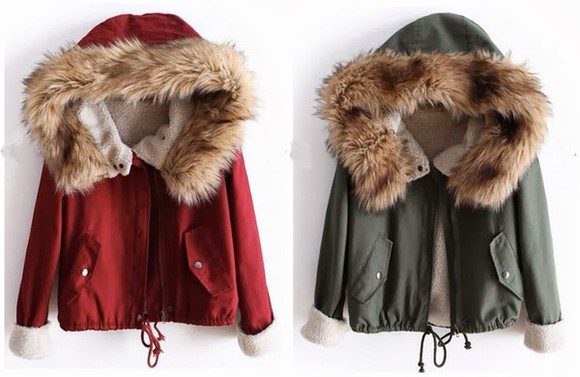fur jacket green parka winter outfits