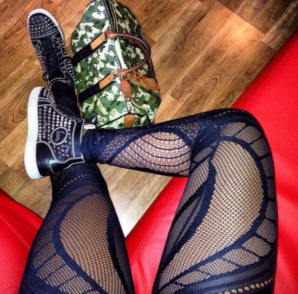 Pants pantyhose pattern platform