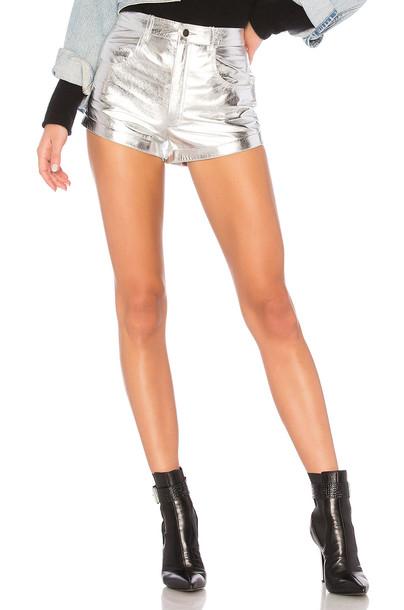 LPA shorts metallic silver