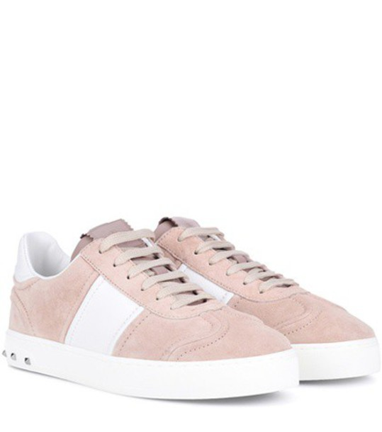 Valentino suede sneakers sneakers suede pink shoes