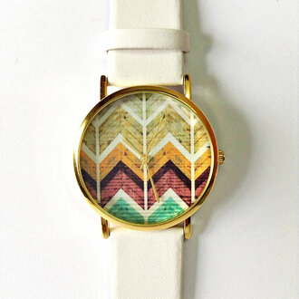 stacked jewelry jewels watch accessories chevron watch fashion style leather watch wooden chevron kitty watch vintage