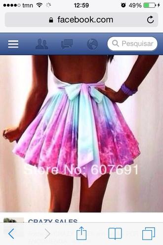 skirt laço multicolor skirt bound pink skirt blue skirt tie dye maxi skirt rainbow dress