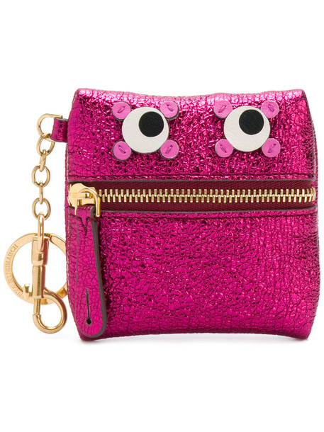 Anya Hindmarch eyes women purse purple pink bag