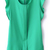 Green Puff Sleeve Split Chiffon Blouse - Sheinside.com