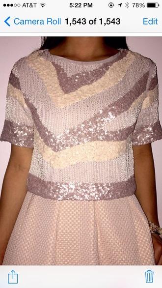 shirt sequin shirt sequins style lavender creme dressy